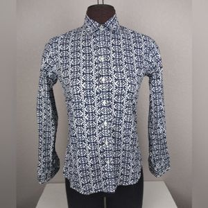 Banana Republic Soft Works Patterned Button Up XS
